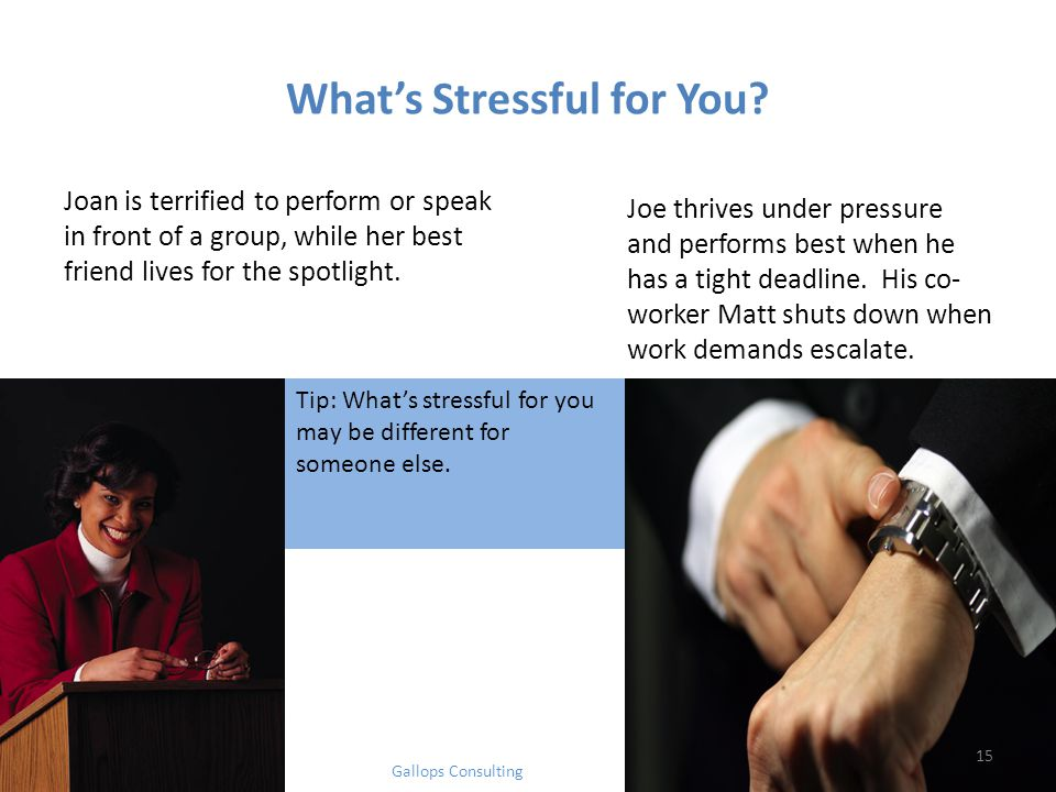What's Stressful for You.