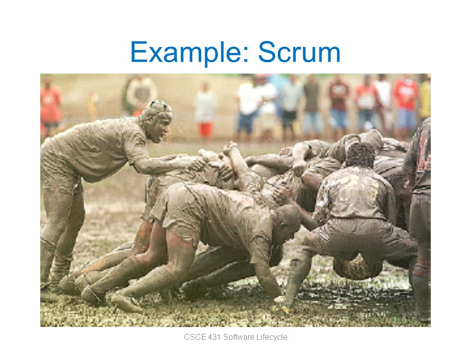 Example: Scrum CSCE 431 Software Lifecycle