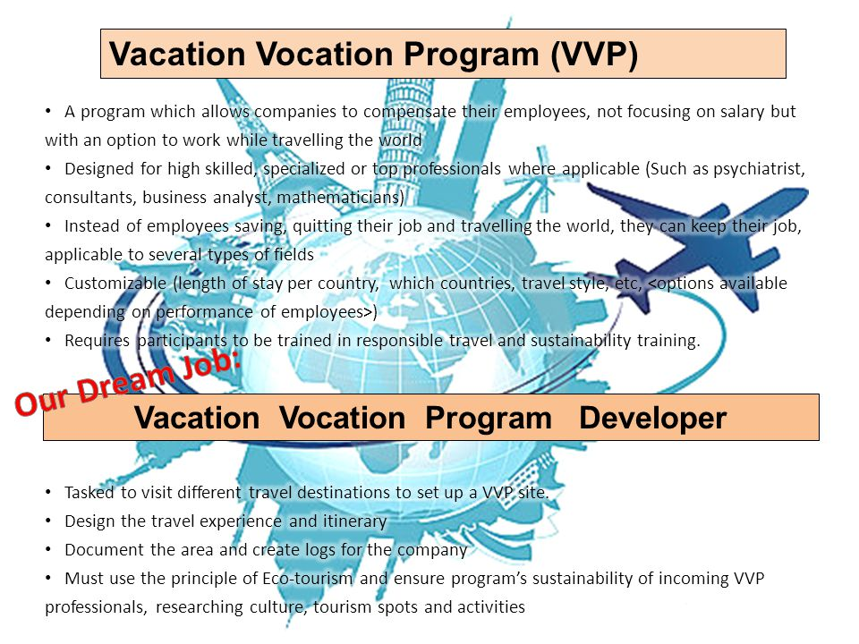Vacation Vocation Program Developer Vacation Vocation Program (VVP)