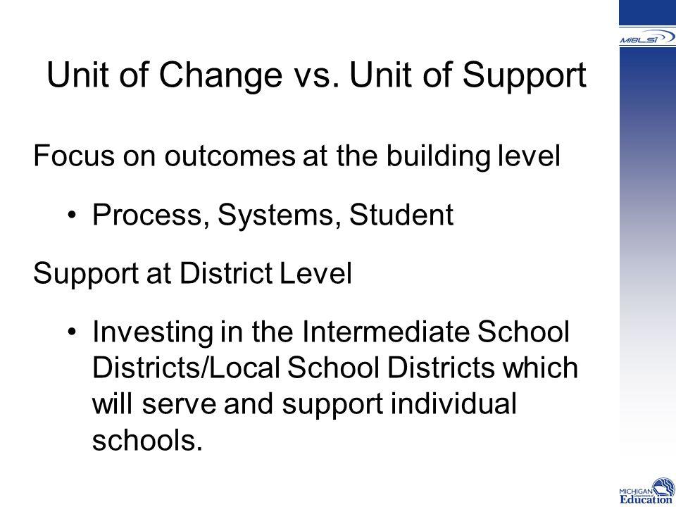 Unit of Change vs.