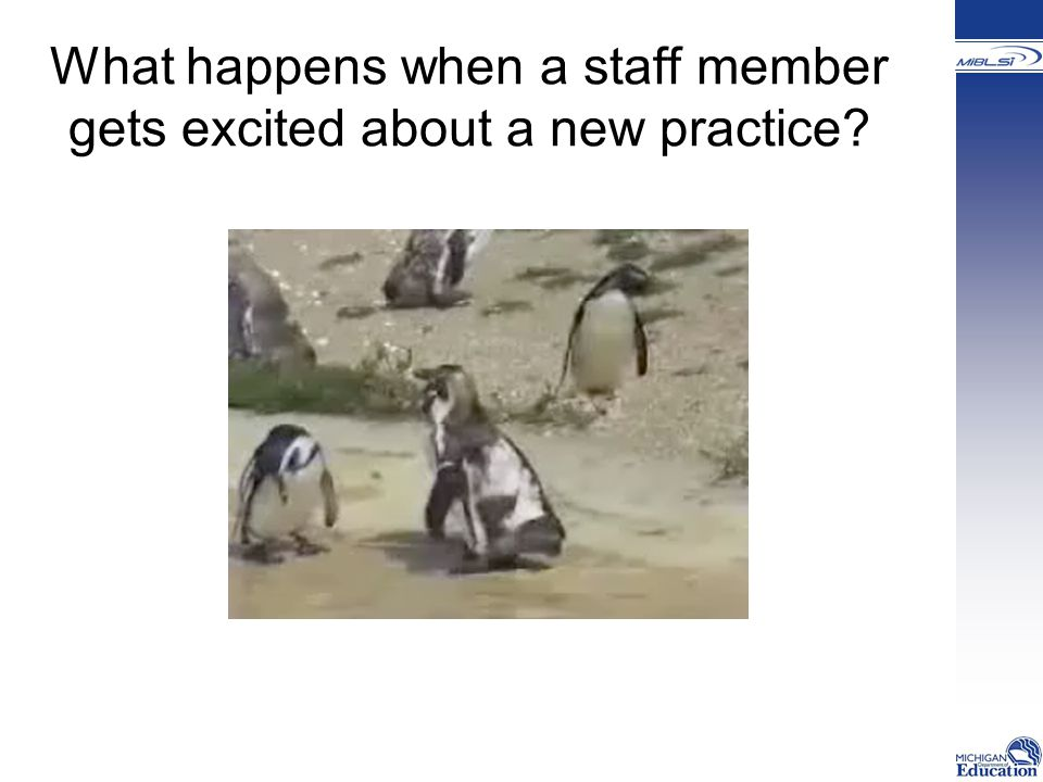 What happens when a staff member gets excited about a new practice