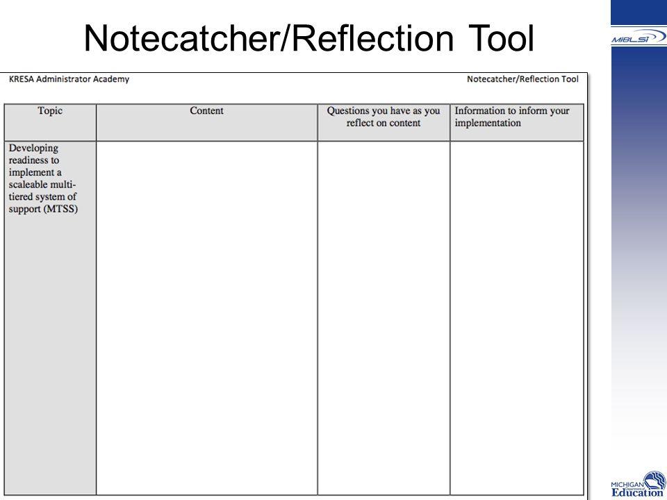 Notecatcher/Reflection Tool