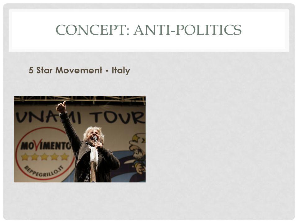 CONCEPT: ANTI-POLITICS 5 Star Movement - Italy