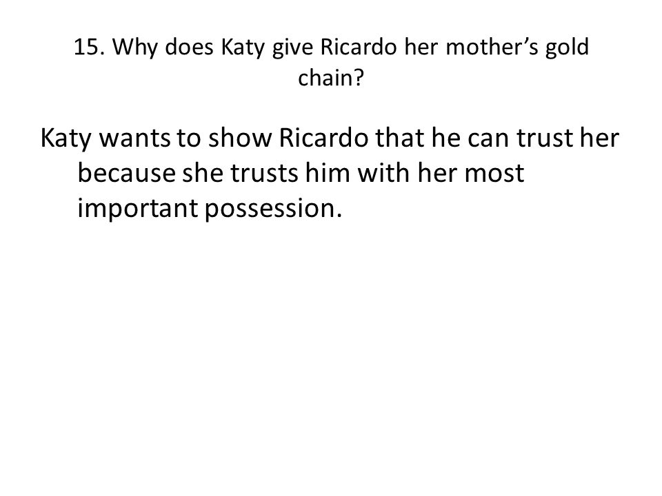 14c) Does Katy take her advice. Explain your answer in full.