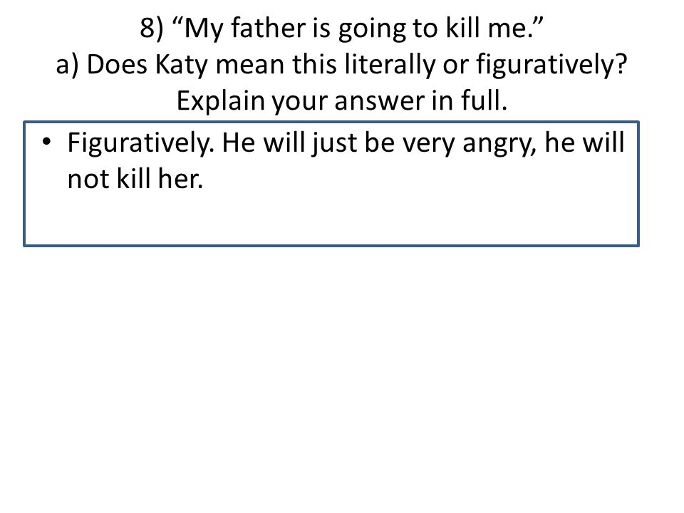 7. In Chapter 20, Wesley shows a range of feelings for Katy.