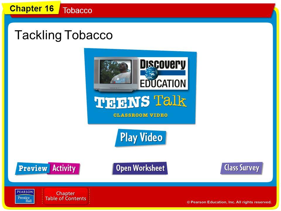Chapter 16 Tobacco Tackling Tobacco