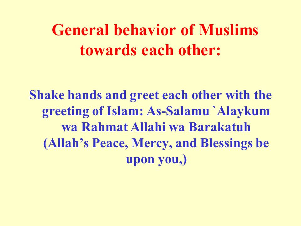 This means: Worship Allah and join none with Him in worship, and do good to parents, kinsfolk, orphans, Al-Masakin (the poor), the neighbor who is near of kin, the neighbor who is a stranger, the companion by your side, the wayfarer (you meet), and those (slaves) whom your right hands possess.