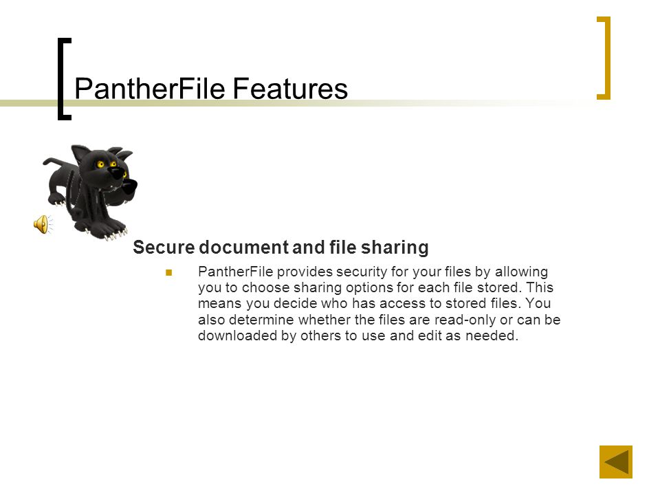 …Using PantherFile The following slides will present two scenarios to illustrate how a UWM student might use PantherFile.