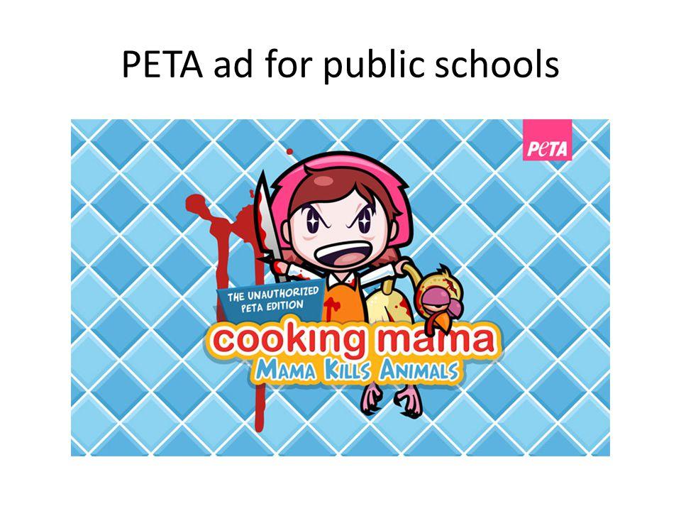 PETA ad for public schools