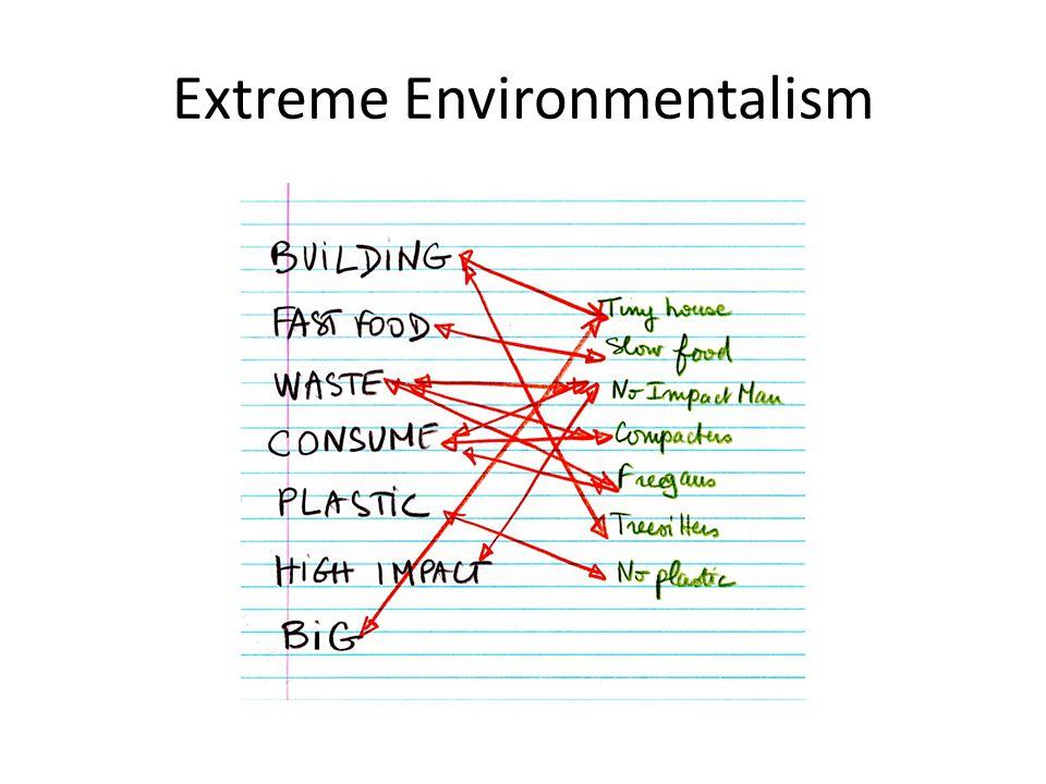 Extreme Environmentalism