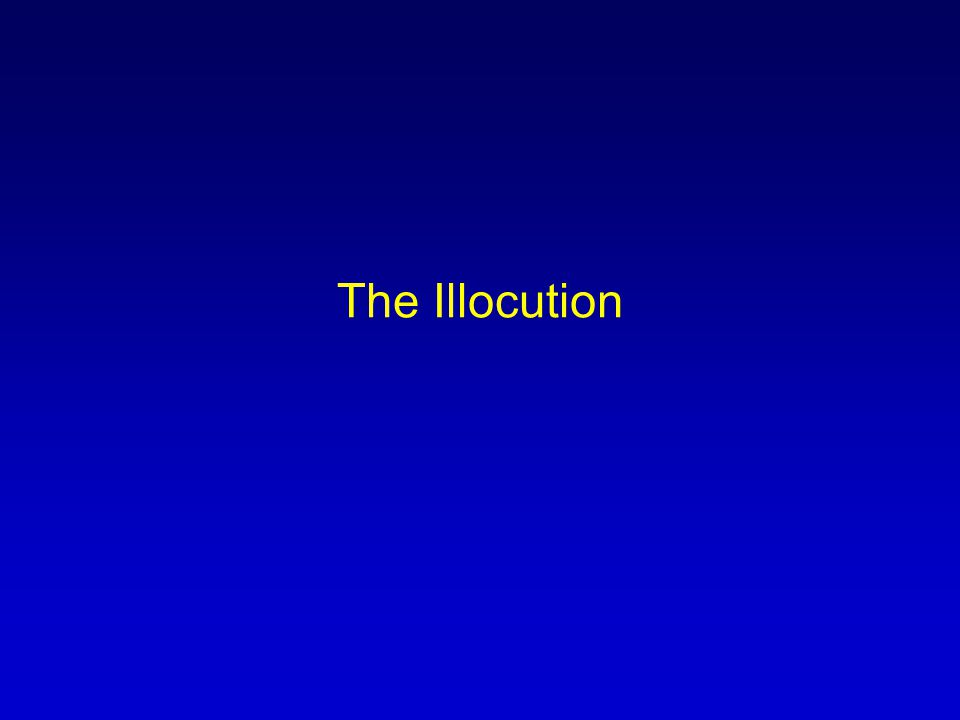 The Illocution