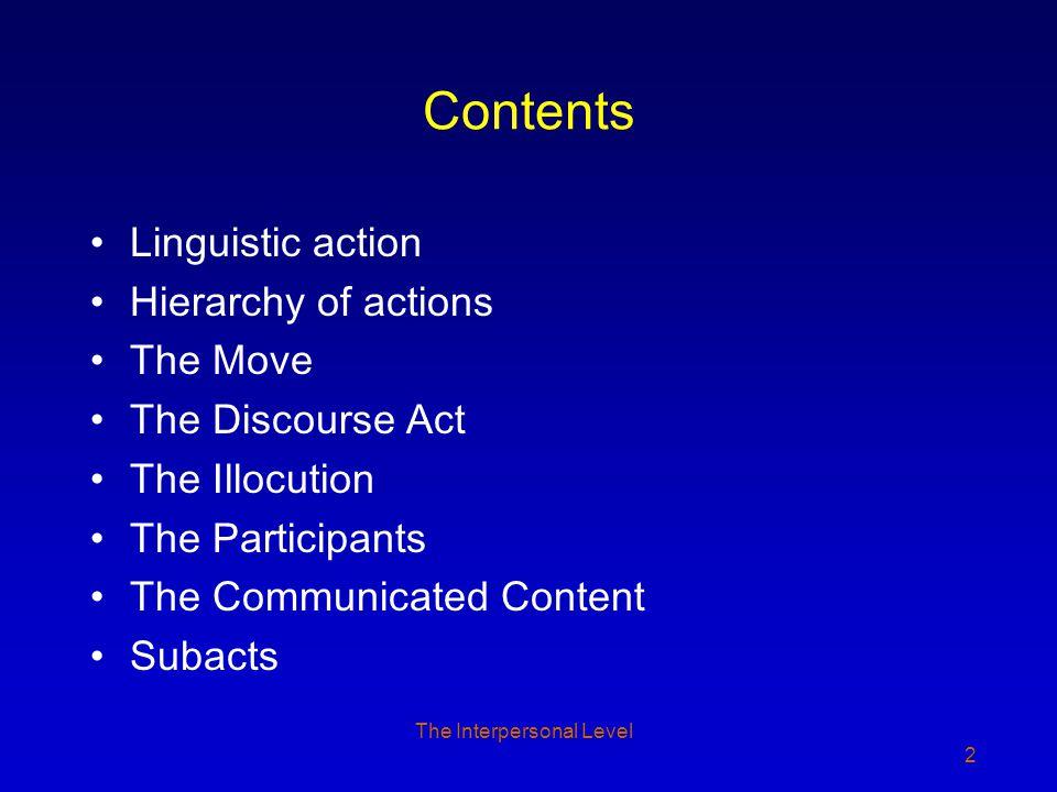 The Discourse Act