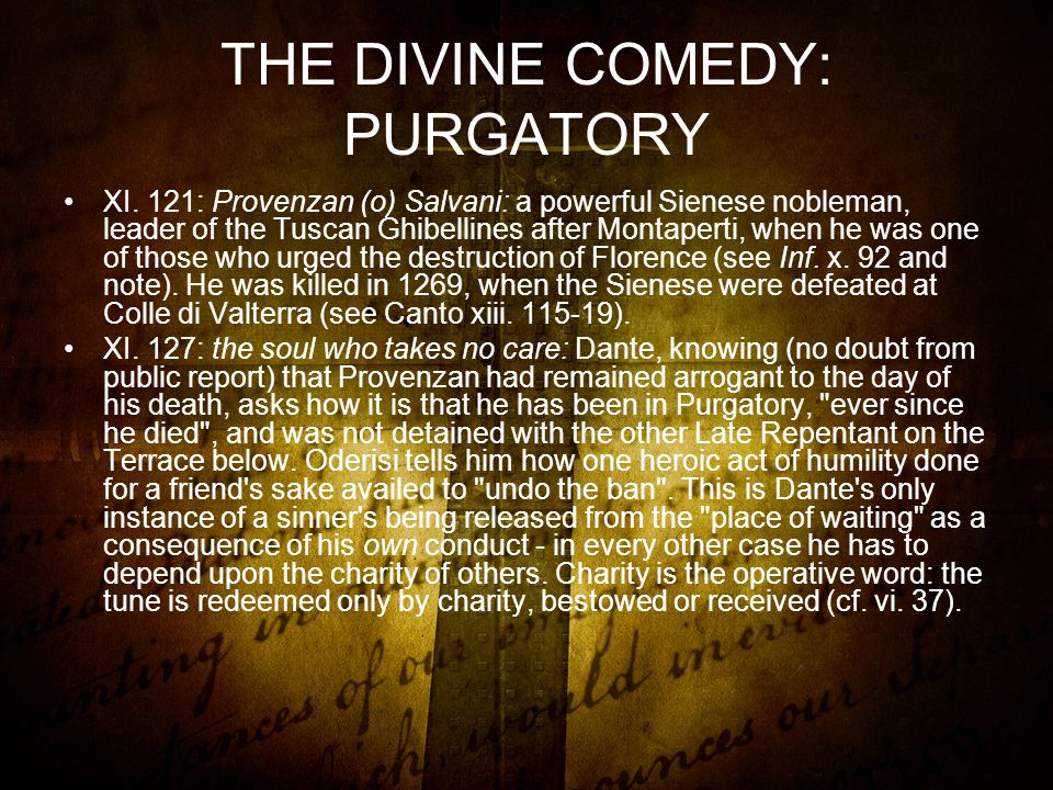 THE DIVINE COMEDY: PURGATORY XI.