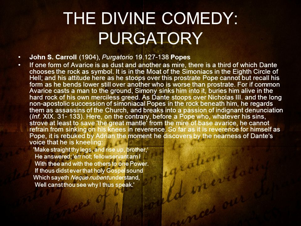 THE DIVINE COMEDY: PURGATORY John S.
