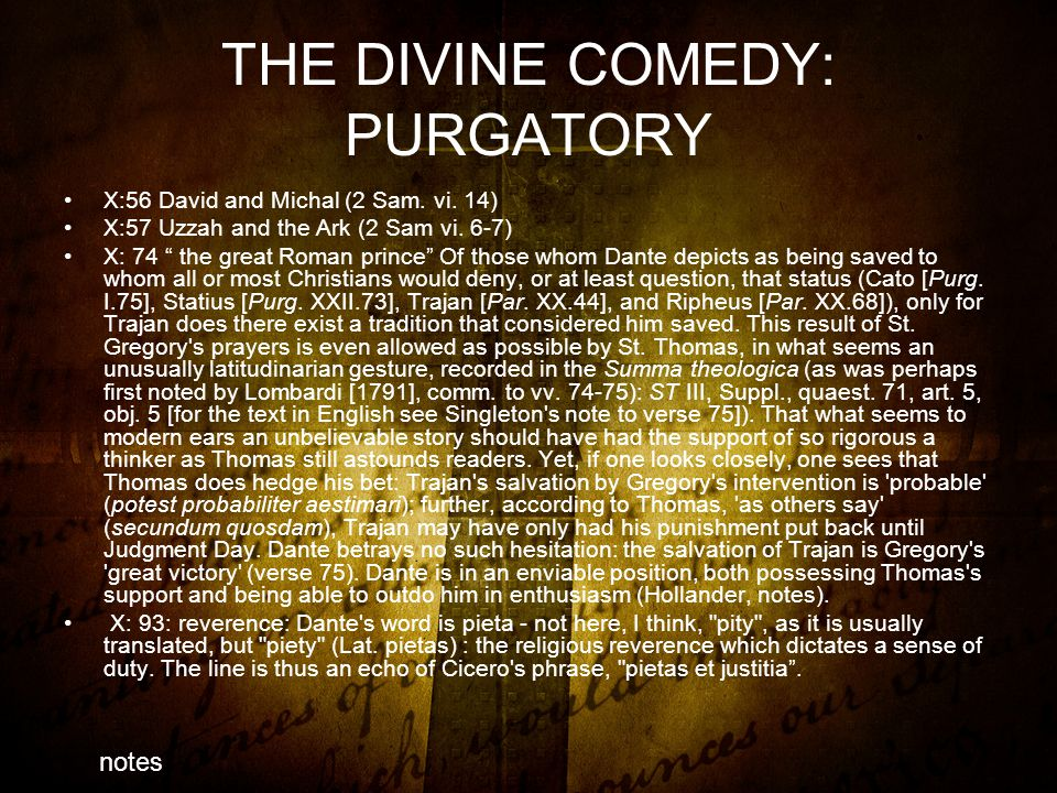 THE DIVINE COMEDY: PURGATORY X:56 David and Michal (2 Sam.
