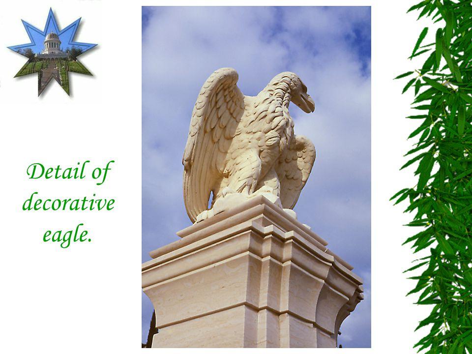 Detail of decorative eagle.