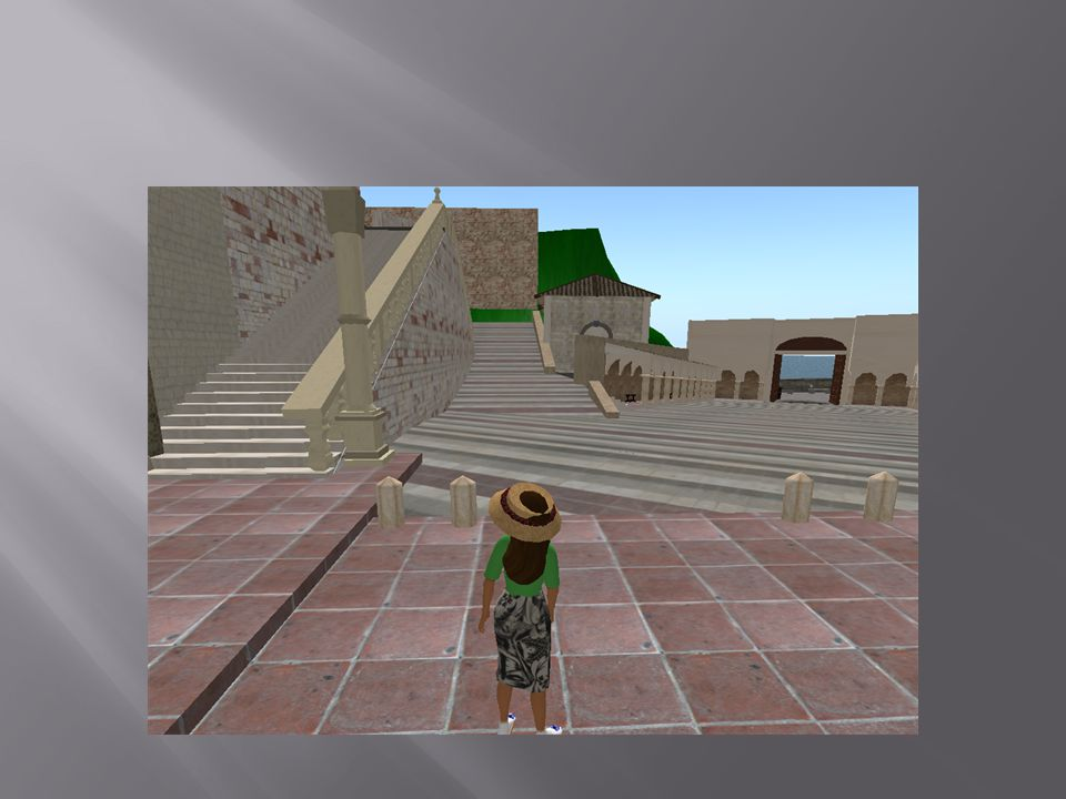Locations to visit  http://www.simteach.com/wiki/index.php?title=Top_20_Educational_Locations_in_Second_Lifehttp://www.simteach.com/wiki/index.php?title=Top_20_Educational_Locations_in_Second_Life San Francesco Assisi  http://slurl.com/secondlife/san%20francesco%20assisi/246/109/65 http://slurl.com/secondlife/san%20francesco%20assisi/246/109/65 Arles - Vincent Van Gogh s Home  http://slurl.com/secondlife/Arles/126/110/25 http://slurl.com/secondlife/Arles/126/110/25 Botanical Landscaping, Garden and Environmental Design Center  http://slurl.com/secondlife/Straylight/183/52/25 http://slurl.com/secondlife/Straylight/183/52/25 Discovery Educator Network - Welcome to the DEN  http://slurl.com/secondlife/Eduisland%202/131/132/22 http://slurl.com/secondlife/Eduisland%202/131/132/22 Dresden Gallery  http://slurl.com/secondlife/Dresden%20Gallery/120/128/26 http://slurl.com/secondlife/Dresden%20Gallery/120/128/26 Gotham City  http://slurl.com/secondlife/Gotham%20City/51/199/28 http://slurl.com/secondlife/Gotham%20City/51/199/28 Mexico ~Chichen Itza~Archeological Site  http://slurl.com/secondlife/Visit%20Mexico/55/214/24 http://slurl.com/secondlife/Visit%20Mexico/55/214/24 Russian Red Square - Moscow Island  http://slurl.com/secondlife/Moscow%20Island/79/212/21 http://slurl.com/secondlife/Moscow%20Island/79/212/21 Sistine Chapel  http://slurl.com/secondlife/Vassar/168/88/24 http://slurl.com/secondlife/Vassar/168/88/24 Rembrandthuis  http://slurl.com/secondlife/Long%20Island%20University/67/109/795 http://slurl.com/secondlife/Long%20Island%20University/67/109/795