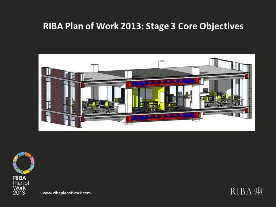www.ribaplanofwork.com RIBA Plan of Work 2013: Stage 3 Core Objectives