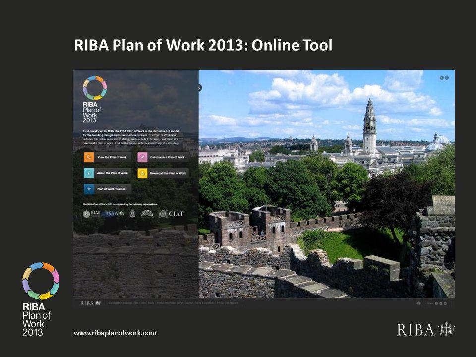 www.ribaplanofwork.com RIBA Plan of Work 2013: Online Tool