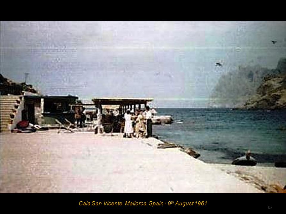 Cala San Vicente, Mallorca, Spain - 9 th August 1961 - Guests from Hotel La Rosa 14