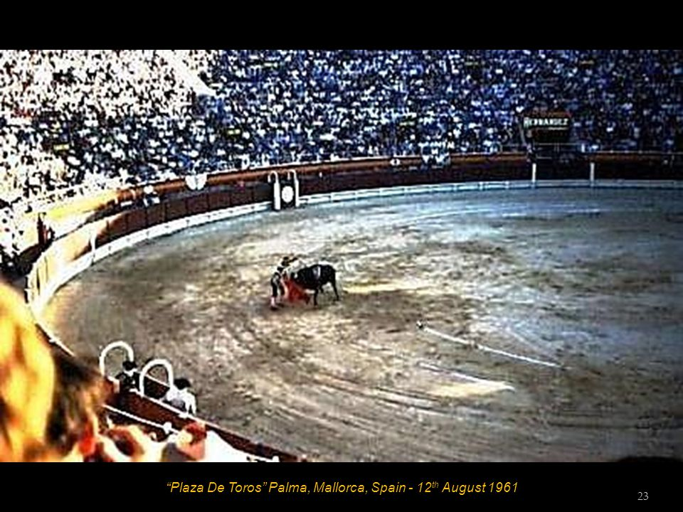 Plaza De Toros Palma, Mallorca, Spain - 12 th August 1961 22