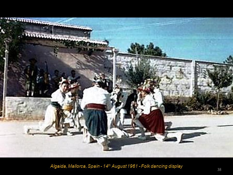 Algaida, Mallorca, Spain - 14 th August 1961 - Folk dancing display 37