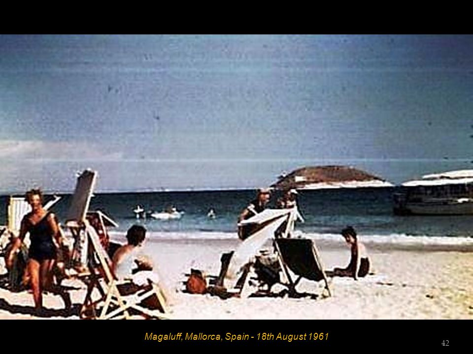 San Agustin, Mallorca, Spain - 17 th August 1961 - Zenith Beach Club 41