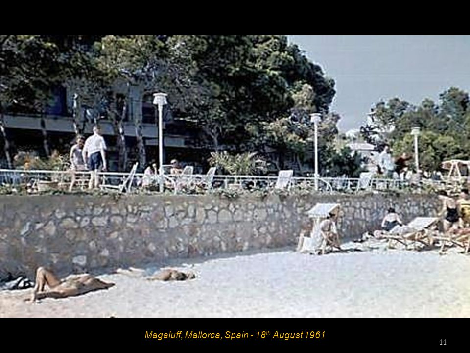 Magaluff, Mallorca, Spain - 18 th August 1961 43