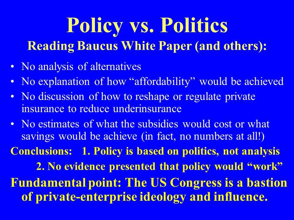 Policy vs.