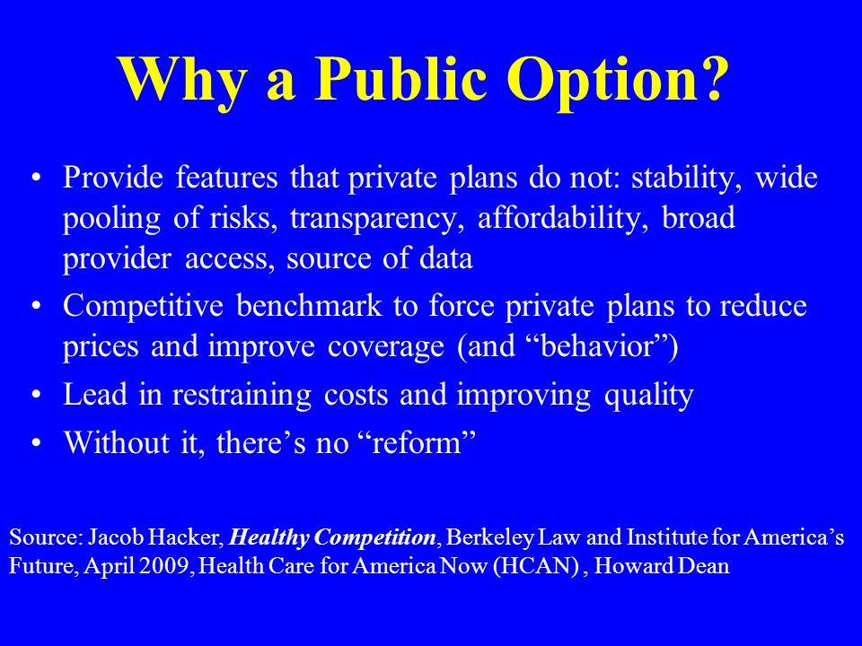 Why a Public Option.