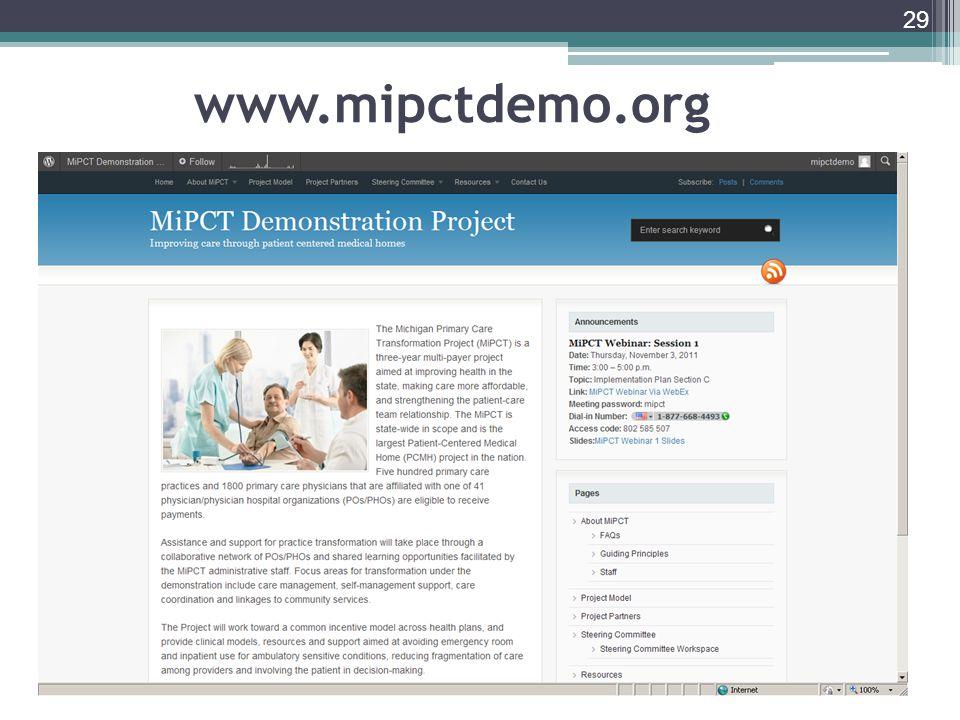 29 www.mipctdemo.org