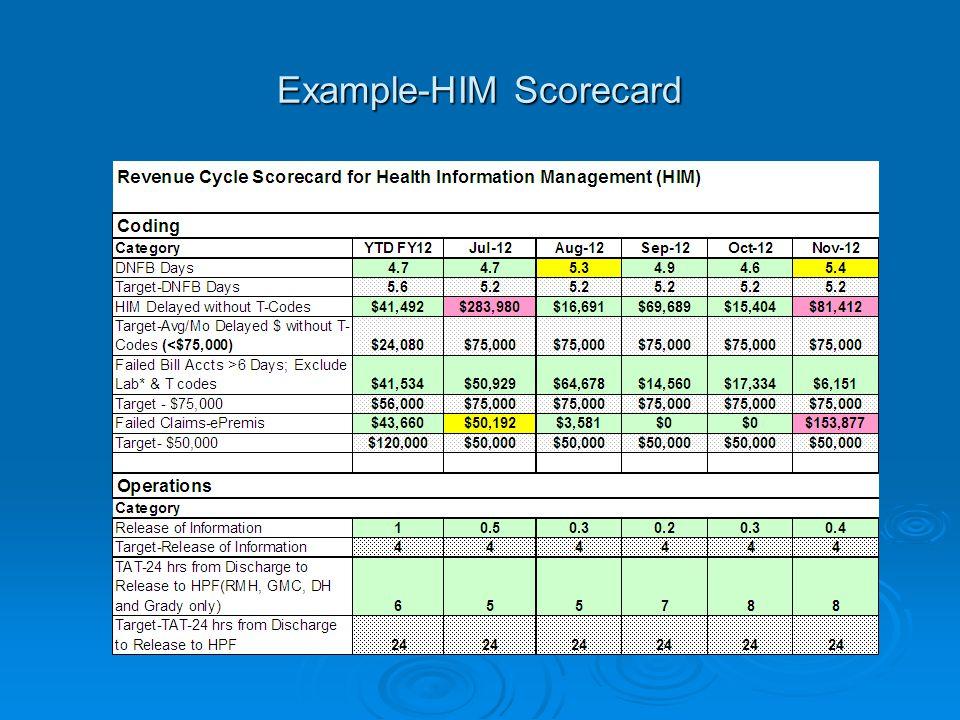Example-HIM Scorecard