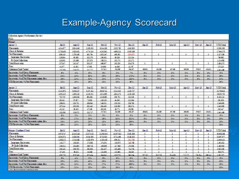 Example-Agency Scorecard