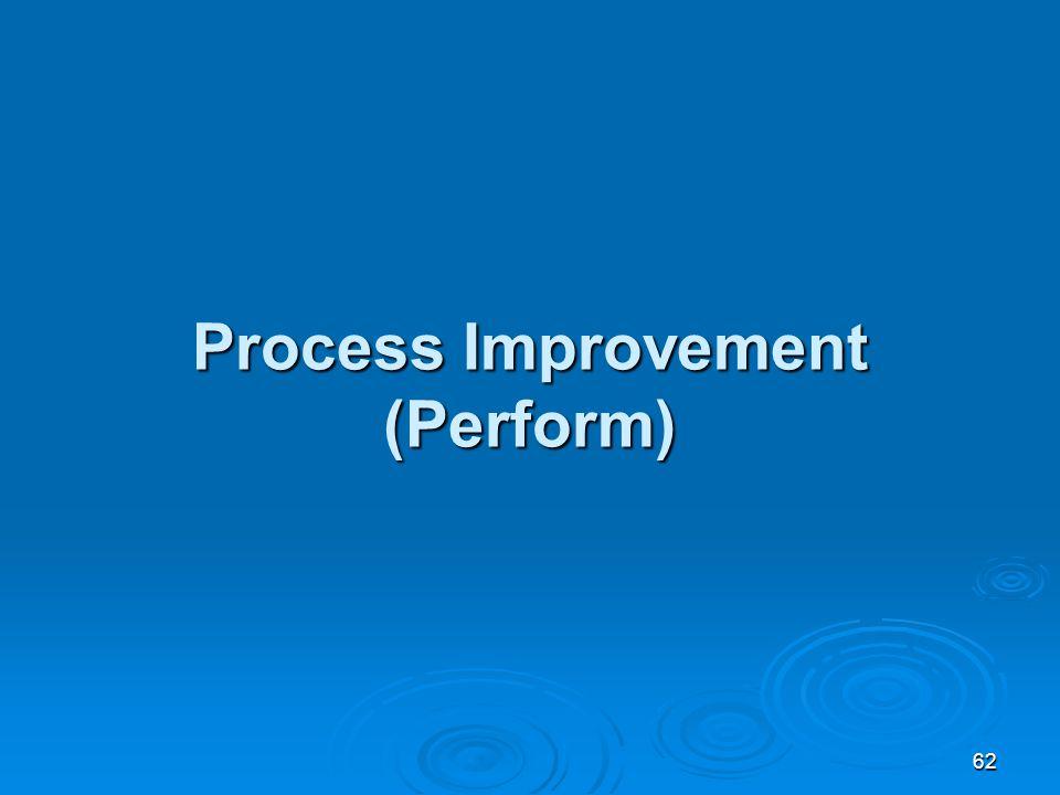 62 Process Improvement (Perform)