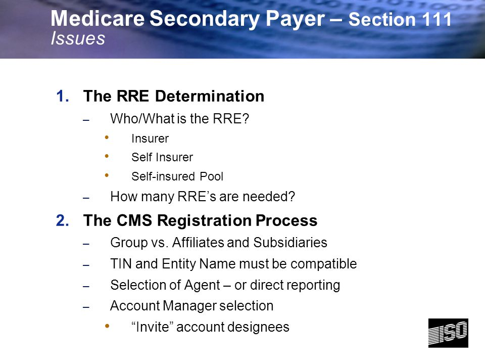 4 1.The RRE Determination – Who/What is the RRE.