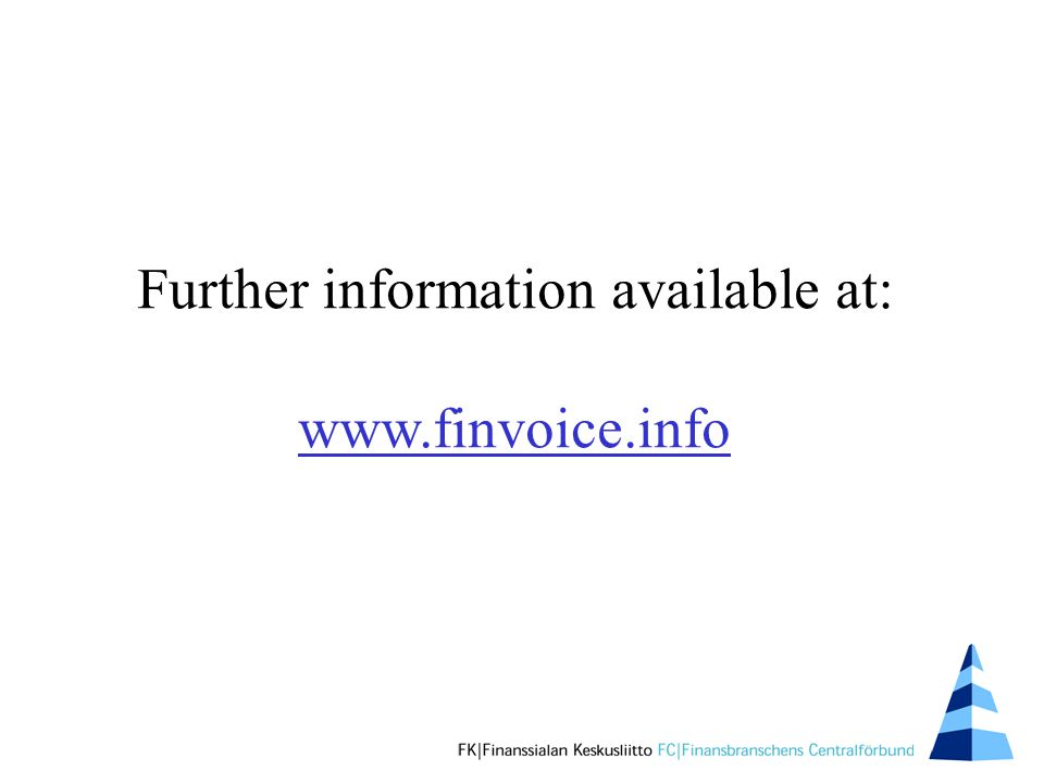 Further information available at: www.finvoice.info