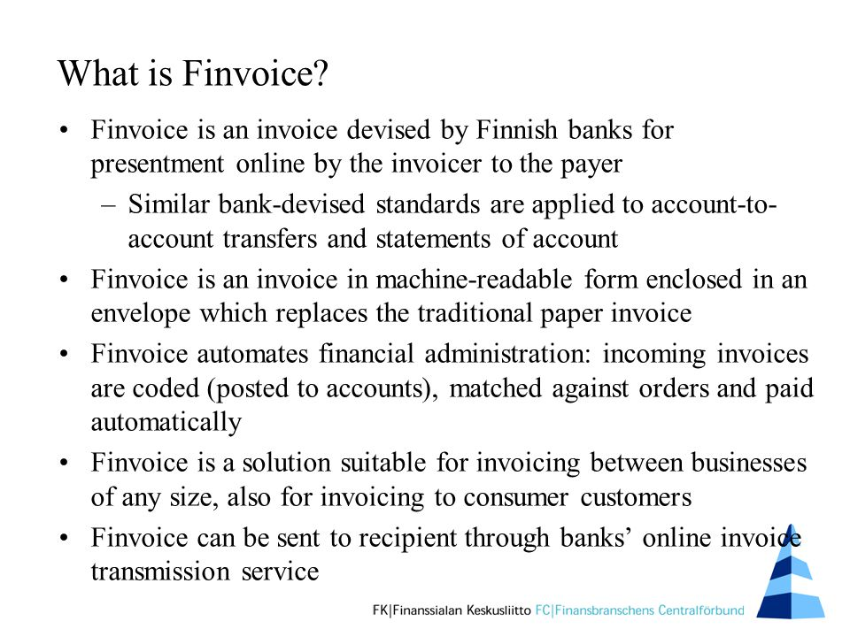 What is Finvoice.