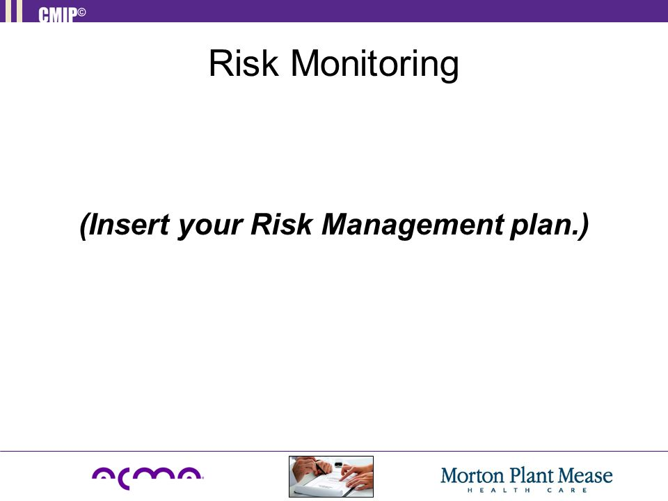 Risk Monitoring (Insert your Risk Management plan.)