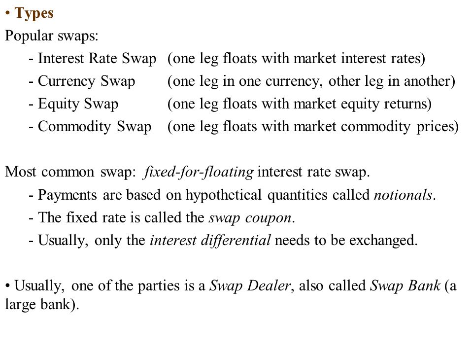 Decomposition into Forward Contracts The CFs of currency swap can be valued as a series of forward contracts.