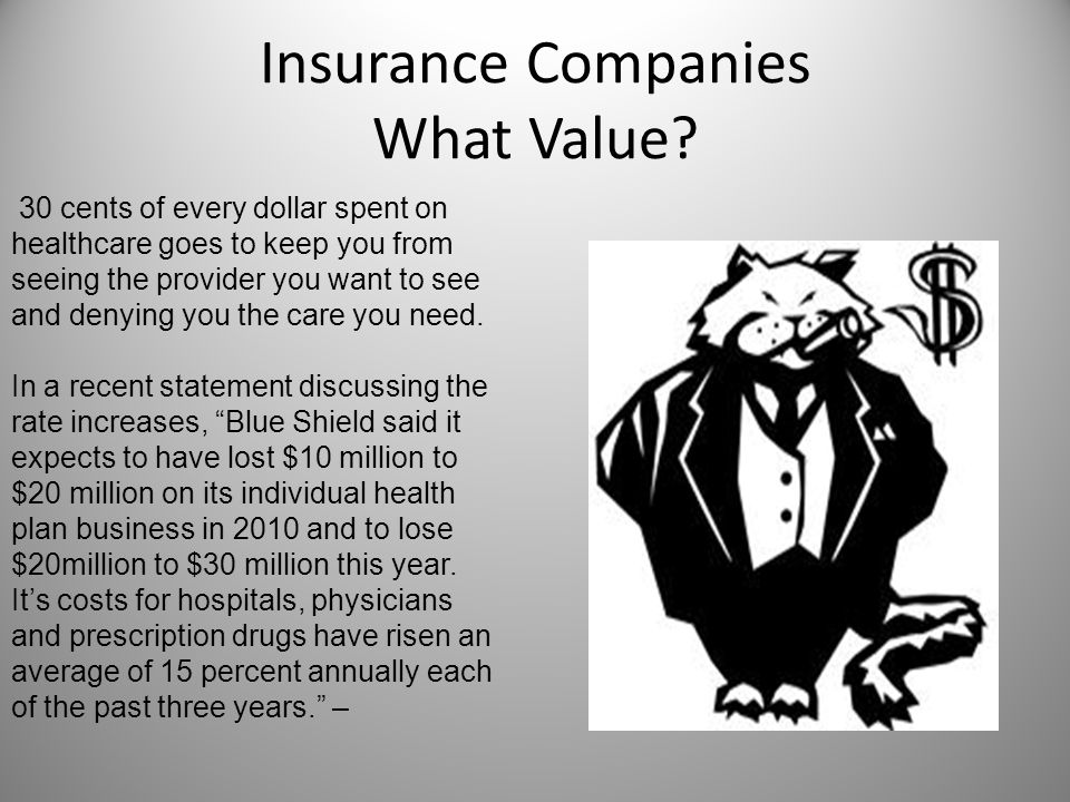 Insurance Companies What Value.