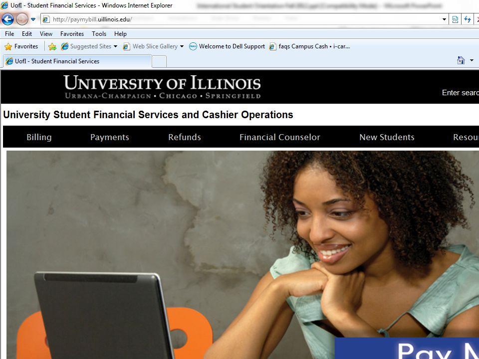 USFSCO New Student Orientation http://paymybill.uillinois.edu
