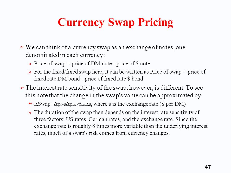46 Interest Rate and Cross-Currency Swaps: Notional Principal, Trillions $, 1995