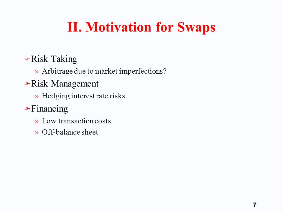 6 Importance of Swaps Market
