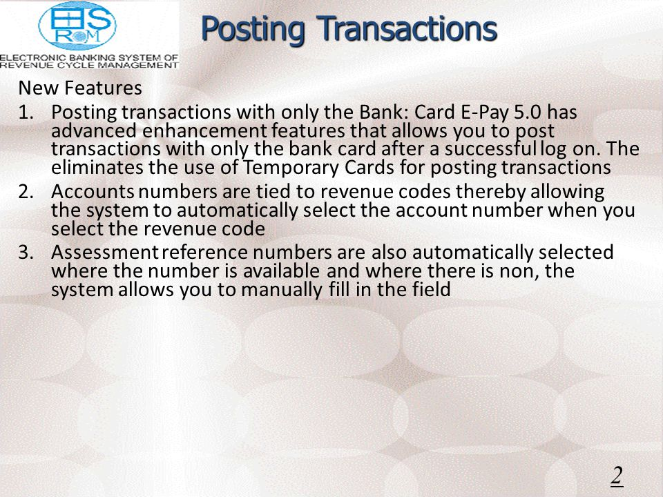 Log on to e-Pay 23 Notice username field is automatically updated Supply your password Select your location Click ok