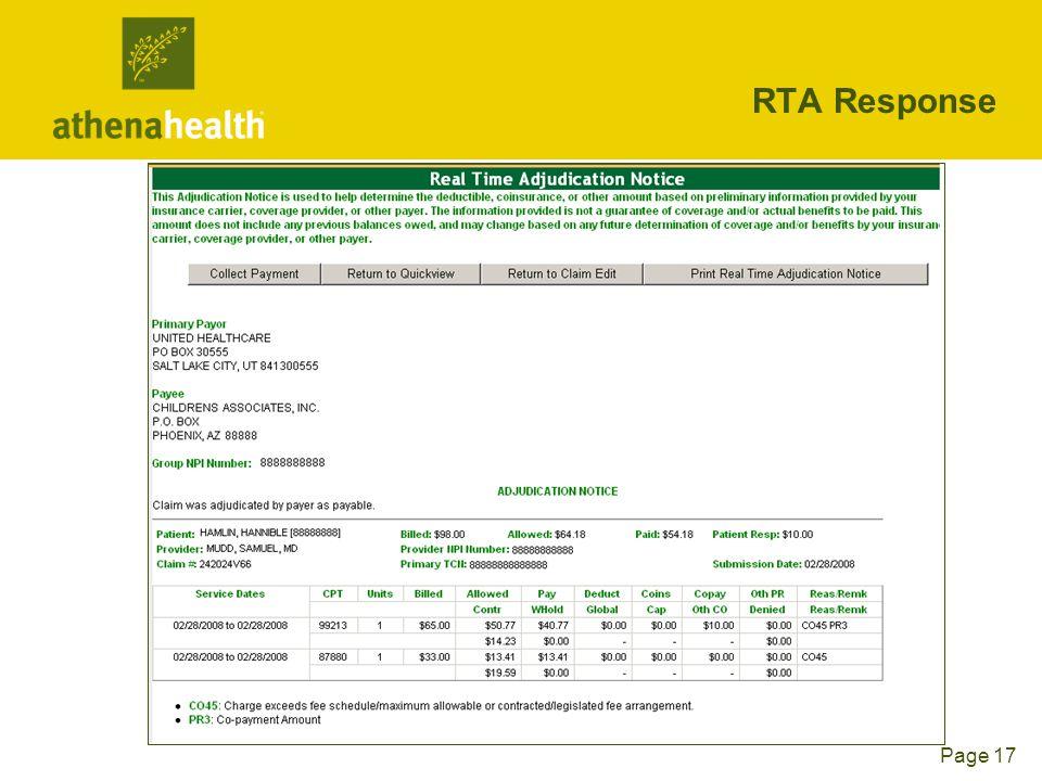 Page 17 RTA Response