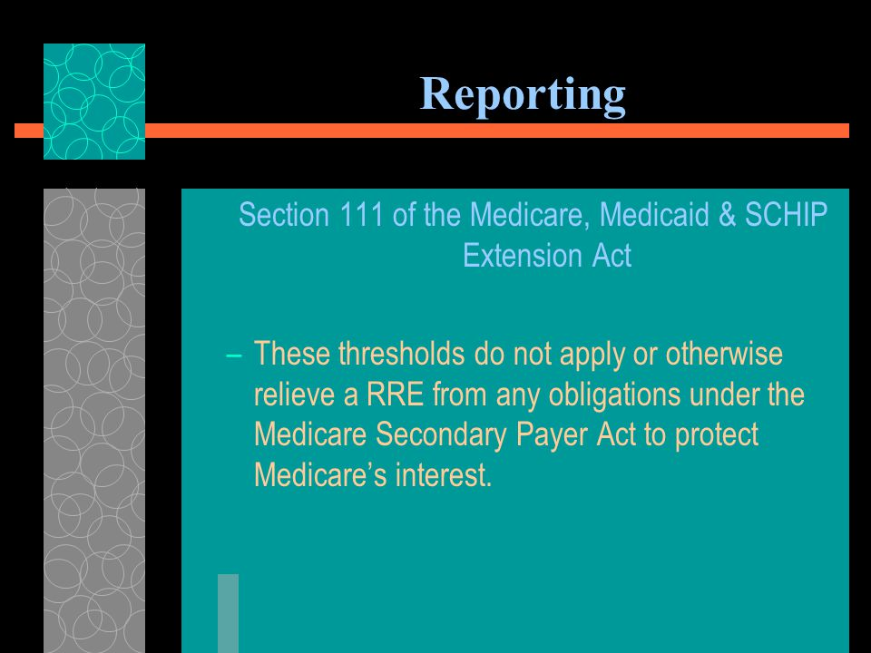 Reporting After January 1, 2014, EVERY payment made to a Medicare beneficiary concerning a general liability claim must be reported whether the payment is made as a result of settlement, judgment, or for any other reason whether a release is obtained or not.