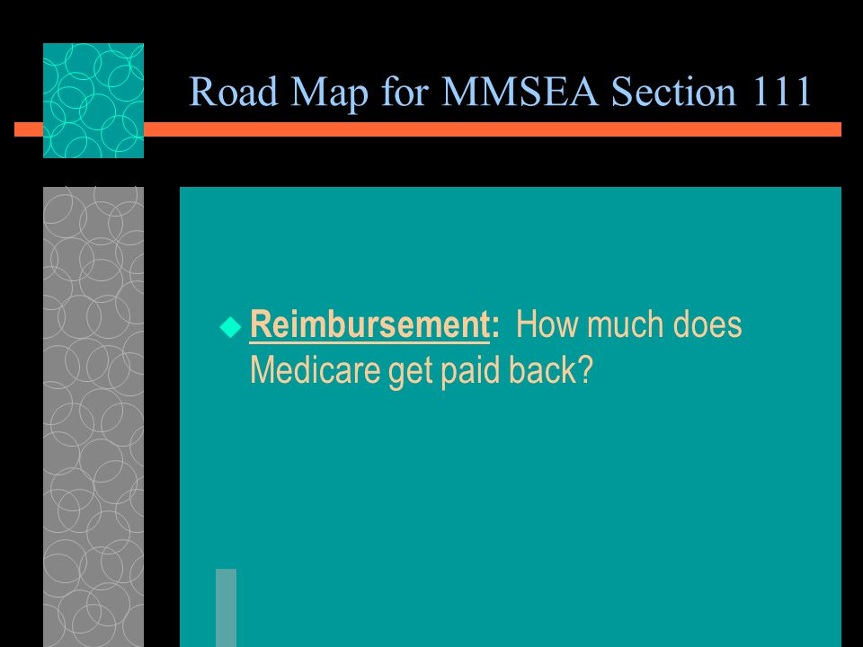 Penalties REIMBURSEMENT TO MEDICARE  Medicare must be reimbursed within 60 days of receipt of payment by Medicare beneficiary  If a liability insurance settlement is made and Medicare is not reimbursed, the third party payer must reimburse Medicare even if it has already paid the beneficiary.