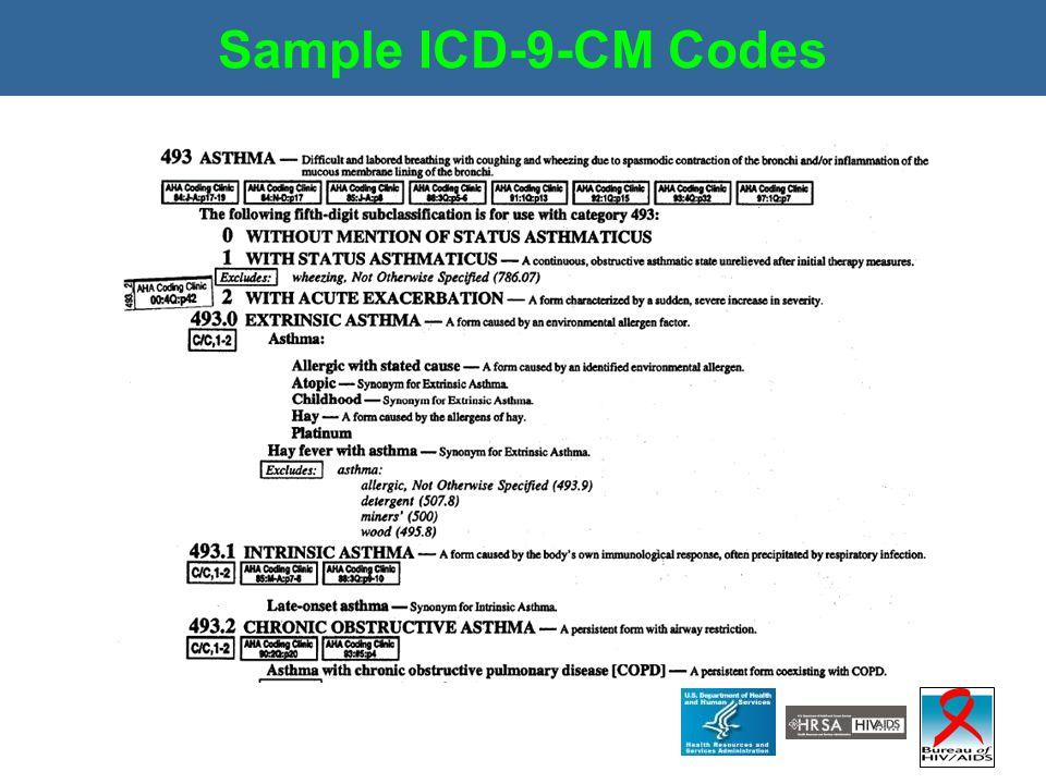 Sample ICD-9-CM Codes