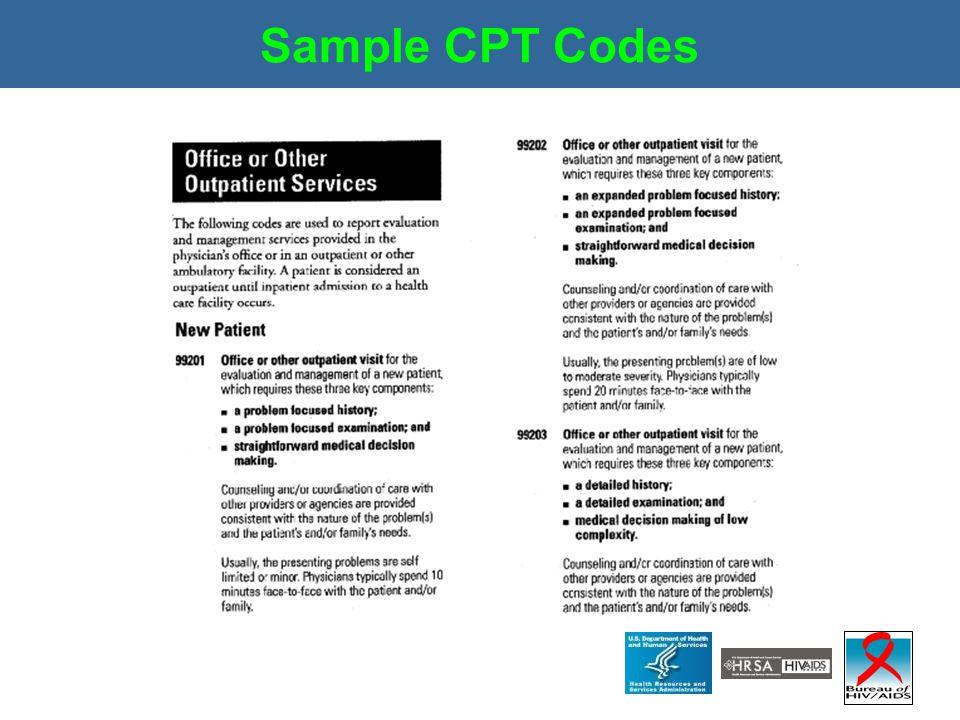 Sample CPT Codes