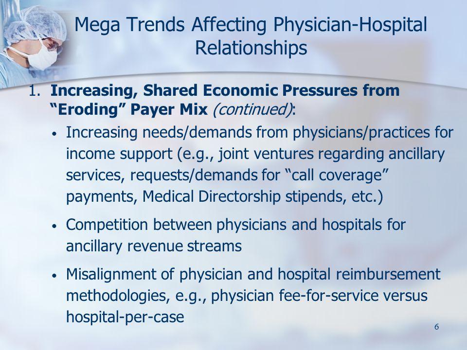 7 Mega Trends Affecting Physician-Hospital Relationships 2.